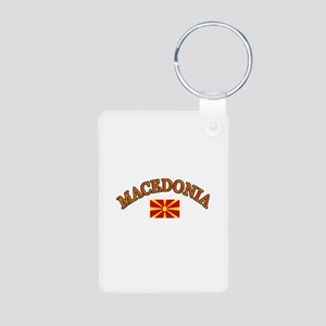 Macedonia Soccer Designs Aluminum Photo Keychain
