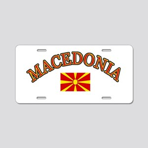 Macedonia Soccer Designs Aluminum License Plate