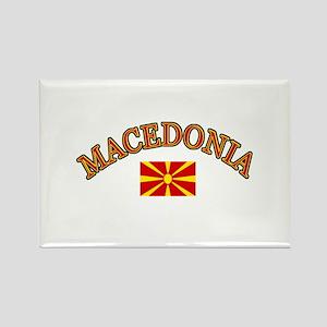 Macedonia Soccer Designs Rectangle Magnet