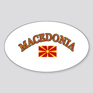 Macedonia Soccer Designs Sticker (Oval)