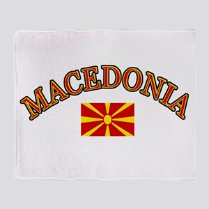 Macedonia Soccer Designs Throw Blanket