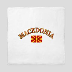Macedonia Soccer Designs Queen Duvet
