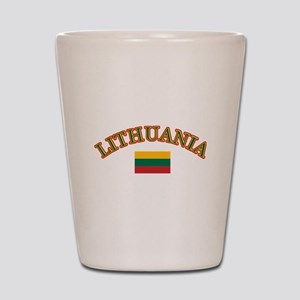 Lithuania Soccer Designs Shot Glass