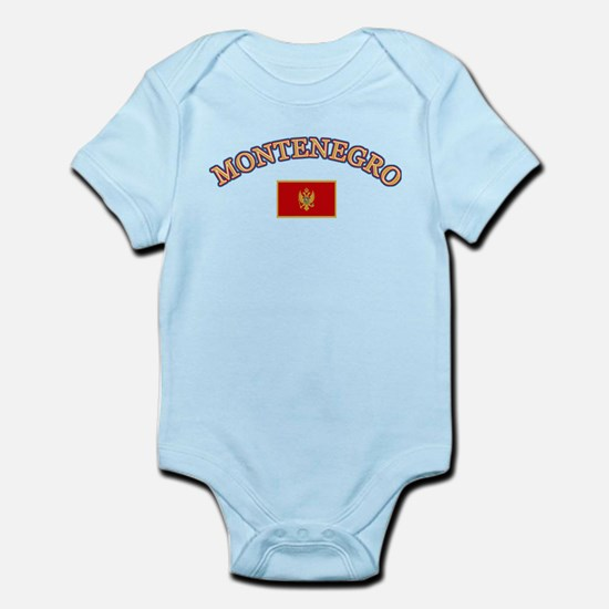 Montenegro Soccer Designs Infant Bodysuit