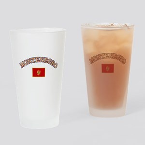 Montenegro Soccer Designs Drinking Glass