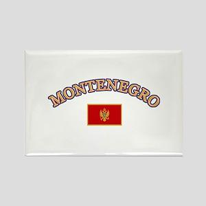 Montenegro Soccer Designs Rectangle Magnet