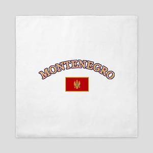 Montenegro Soccer Designs Queen Duvet