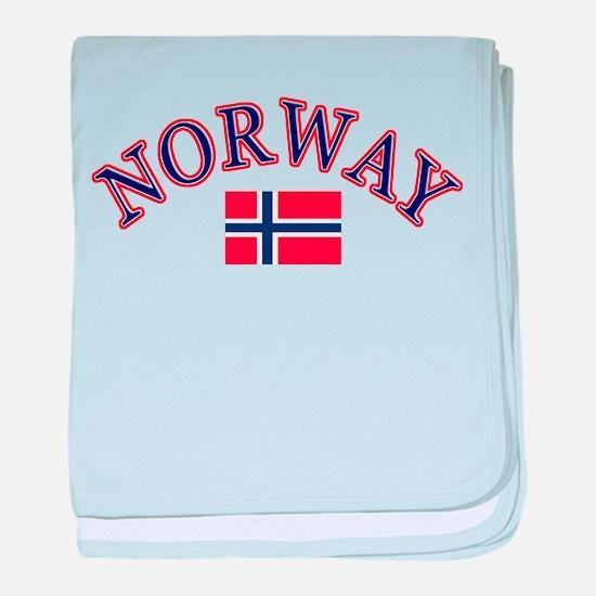Norway Soccer Designs baby blanket