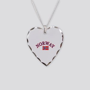 Norway Soccer Designs Necklace Heart Charm
