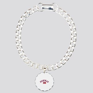 Norway Soccer Designs Charm Bracelet, One Charm