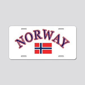 Norway Soccer Designs Aluminum License Plate