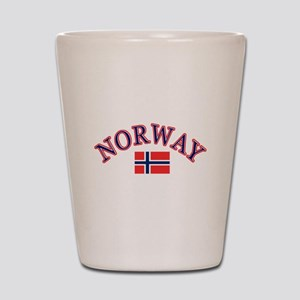 Norway Soccer Designs Shot Glass