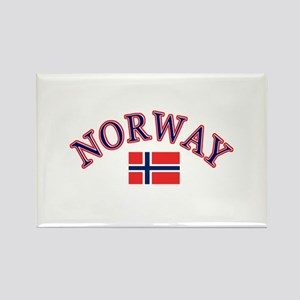 Norway Soccer Designs Rectangle Magnet