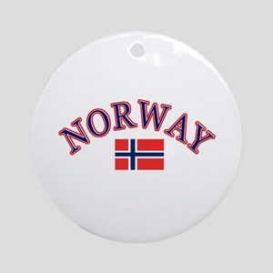 Norway Soccer Designs Ornament (Round)