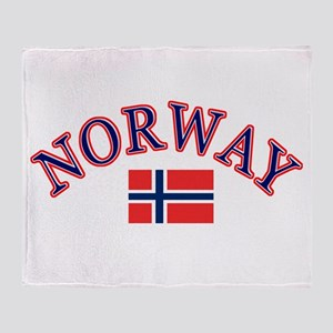 Norway Soccer Designs Throw Blanket
