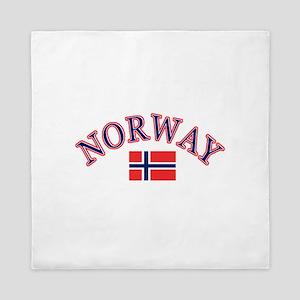 Norway Soccer Designs Queen Duvet