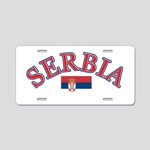 Serbia Soccer Designs Aluminum License Plate