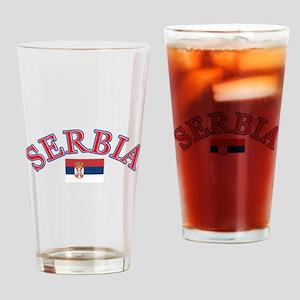 Serbia Soccer Designs Drinking Glass