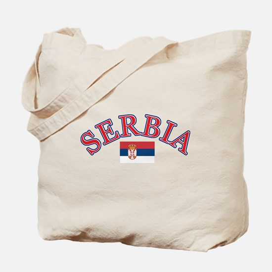 Serbia Soccer Designs Tote Bag