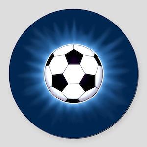 Soccer Ball Round Car Magnet