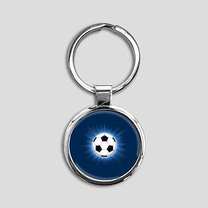Soccer Ball Round Keychain