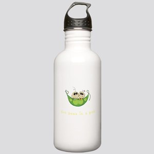 Twin Boy Girl Two Peas Stainless Water Bottle 1.0L