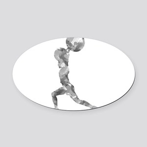Watercolor Lift in Grey Oval Car Magnet