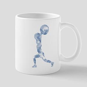 Watercolor Lift in Blue Mug