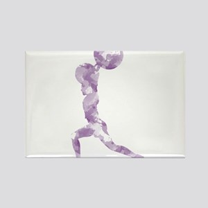 Watercolor Lift in Purple Rectangle Magnet