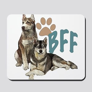 Siberian Husky BFF Mousepad