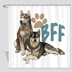 Siberian Husky BFF Shower Curtain