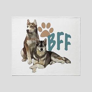 Siberian Husky BFF Throw Blanket