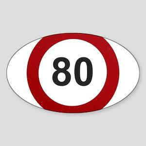 80 mph Sticker (Oval)