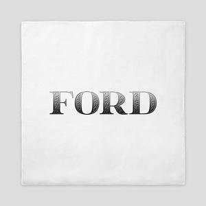 Ford Carved Metal Queen Duvet