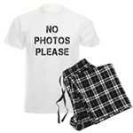 No Photos Please Men's Light Pajamas