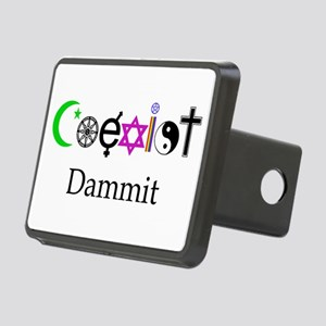 Coexist Dammit! Rectangular Hitch Cover