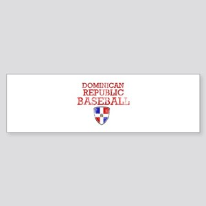 Dominican Republic Baseball Sticker (Bumper)