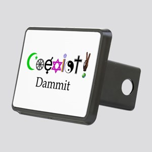 Coexist Dammit! 2 Rectangular Hitch Cover