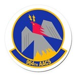 964th AACS Round Car Magnet