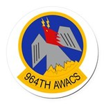 964th AWACS Round Car Magnet