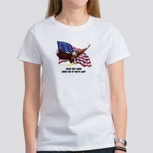 PERSONALIZED AMERICAN FLAG EAGLE S Women's T-Shirt