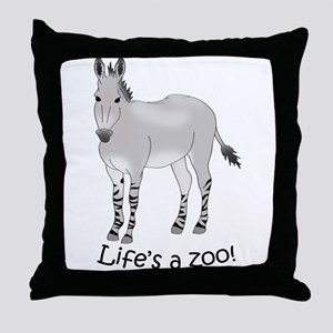 Somali Wild Ass Throw Pillow