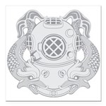 First Class Diver Square Car Magnet 3