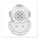 Second Class Diver Square Car Magnet 3