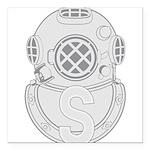 Salvage Diver Square Car Magnet 3