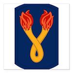 196th Light Infantry Bde Square Car Magnet 3