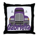 Trucker Gabriella Throw Pillow