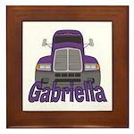 Trucker Gabriella Framed Tile