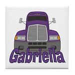 Trucker Gabriella Tile Coaster