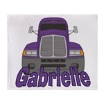 Trucker Gabrielle Throw Blanket